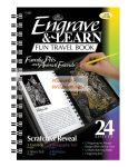Kreatív hobby - Képkarcoló könyv, 12 különböző képpel, karctűvel - 15x20 cm - Album formátum - Csalá