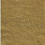 Kreatív hobby - Domborított karton - Virág inda arany színű, Domborítottkarton