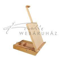 Nagyméretű dobozos asztali festőállvány, kihúzható vászontartóval - 60 cm