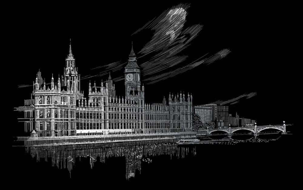 375998c18b5f Kreatív hobby - Karckép készlet, 36x28 cm - London, Big Ben