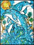 Kreatív hobby - Üvegmatrica kifestő Delfinek