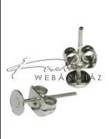 Stiftes Fülbevaló Ragasztható, Ezüst (4 mm)