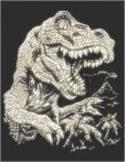 Kreatív hobby - Karckészlet - Tyrannosaurus Rex, 20x25 cm
