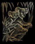 Kreatív hobby - Képkarc készlet - Arany - Koala