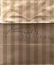 Meghívó készlet - Arany színű Boríték és Meghívó 7,6x20,3 cm, 50 darab
