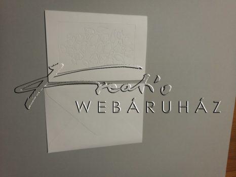 Fehér Boríték és Meghívó  10x15,3 cm, 10 darab