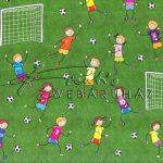 Kreatív hobby - Kartonpapír - Focizó gyermekek, Karton