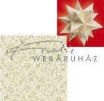 """Origami papír - """"Milánó"""" arany-bézs csillag hajtogató készlet, kétoldalas, 20x20cm"""