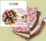 Kreatív hobby - Origami papír - Rózsaszín-zöld virág hajtogató készlet 15x15 cm