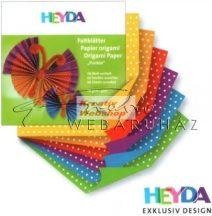 Origami papír - Pöttyös hajtogató készlet 15x15 cm