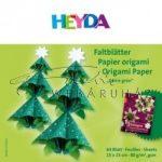 Kreatív hobby - Origami papír - Curlie Zöld - fenyőzöld hajtogató készlet 15x15 cm