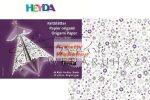 Kreatív hobby - Origami papír - Stardust lila- fehér hajtogató készlet 15x15 cm