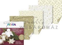 Origami papír - Karácsonyi arany origami papír, 20x20cm