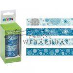 Karácsonyi motívumok - 4 tekercs Washi tape öntapadós papír szalag