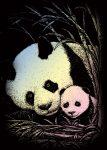 Kreatív hobby - Holografikus - Panda