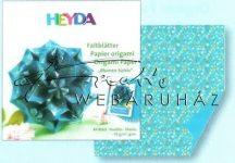 Origami papír - Kék virág hajtogató készlet 10x10 cm