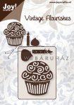 Kreatív hobby - Muffin gyertyával motívumos acél vágósablon
