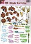 Kreatív hobby - 3D Katica, méhecske és szitakötő - Forming technikához 17.