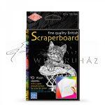 Kreatív hobby - Karcfólia - Fehér, színezhető 10 db-os - 10x15 cm