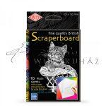 Kreatív hobby - Karcfólia - Fehér, színezhető 10 db-os - 15x23 cm