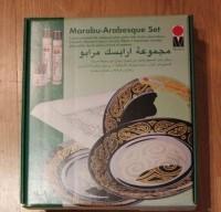 Üvegtányér festő készlet, 7 mintával - Marabu Arabesque (Arabeszk) mintákkal