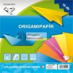 Kreatív hobby - Origami papír - Színes egyszerű készlet 20x20cm