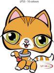 Sárga cica - Kicsi 3D falmatrica