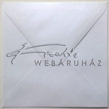15x15 cm Porcukor fehér négyzetes boríték - 10 db / csomag