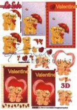 Szerelmes macik és piros szívek, Fázisos 3D