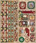 Karácsony és télapó - csíkokkal és sarkokkal, keretezett képekkel