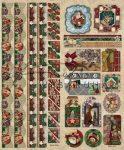 Dombornyomott dekormatricák - Karácsony és télapó, csíkokkal és sarkokkal, keretezett képekkel