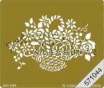 Kreatív hobby - Embossing sablon - Virágkosár