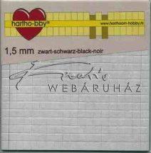 Ragasztókocka - Fekete színű, 1,5mm vastag - 3D Ragasztókocka 5x5 mm, holland