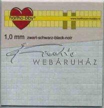 Ragasztókocka - Fekete 1mm - 3D Ragasztókocka 5 x 5 mm, holland