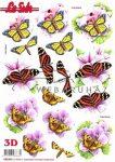 Pillangók, előre kivágott Fázisos 3D képek