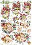 Karácsonyi rózsák, előre kivágott Fázisos 3D képek