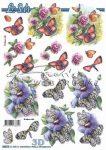 Pillangók 2, előre kivágott Fázisos 3D képek