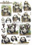 Panda macik, előre kivágott Fázisos 3D képek