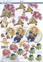 Babák virágos ruhában  Fázisos 3D