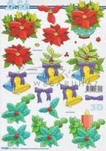 Karácsonyi növények, csengők, Fázisos 3D