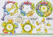 Húsvéti minta gyertya köré, Fázisos 3D
