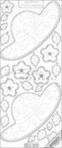 Ezüst Kalap, virág, átlátszó Peel-Off