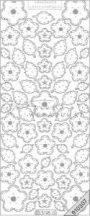 Ezüst Virág, levél, átlátszó Peel-Off