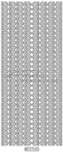 Sor csipke minta 10mm, 1276 - Peel-Off, ezüst