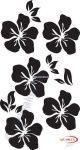 Fekete falmatrica - Virágos #11