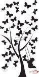 Fekete falmatrica -Állatos, lepkés, pillangós #13