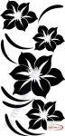 Fekete falmatrica - Virágos #19