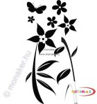Fekete falmatrica - Virágos #20