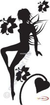 Fekete falmatrica - Tündéres #22