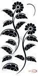 Fekete falmatrica - Virágos #48